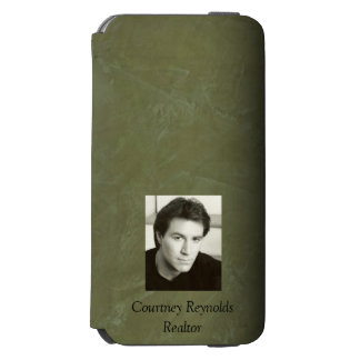Add Your Photo Tuscan Olive Green Stucco Incipio Watson™ iPhone 6 Wallet Case