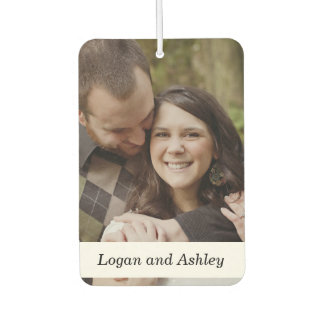 Add Your Photo, Wedding Couple Custom Air Freshener