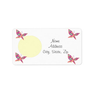 Add your Photo  with Butterflies labels
