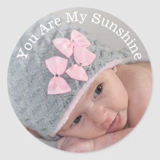 Add Your Photo You are My Sunshine Stickers