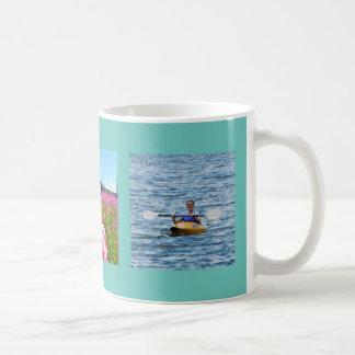 Add your photos Blue light teal frame background Coffee Mug