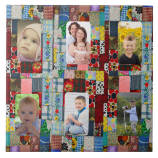 ADD YOUR PHOTOS--PATCHWORK-1 TILE