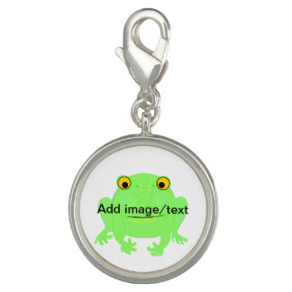 Add your picture and/or words clip on charm