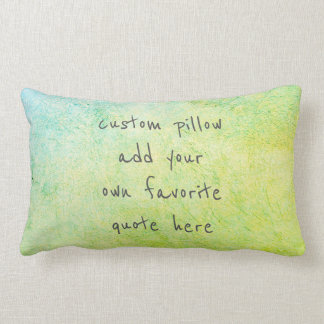 add your quote pillow  blue green home decor