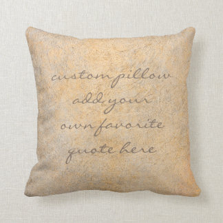 add your quote pillow distressed sepia home decor