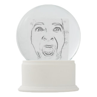 Add Your Screaming Face Hilarious Snow Globe
