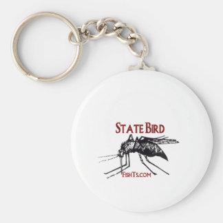 Add Your State Name-State Bird Basic Round Button Keychain
