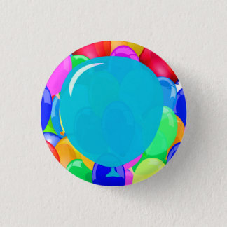 Add Your Text Balloons 1 Inch Round Button