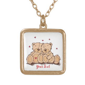 Add Your Text - gold finish necklace