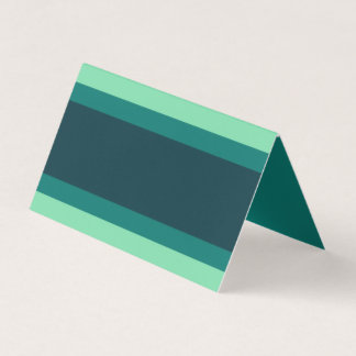 Add Your Text Shades of Teal Green Color Block Place Card