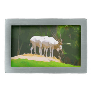 Addax from Safari Rectangular Belt Buckles