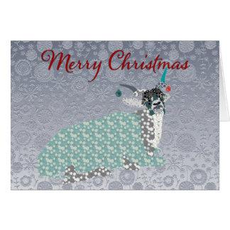 Addax Silver Ornate  Christmas Greeting Greeting Card