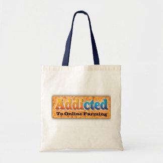 addicted-farmer tote bag