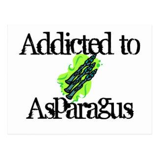 Addicted to Asparagus Postcard