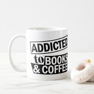 Addicted To Books & Coffee Typography Mug