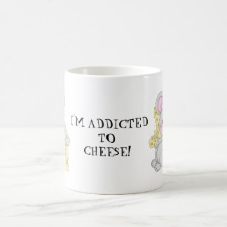 Addicted to cheese coffee mug