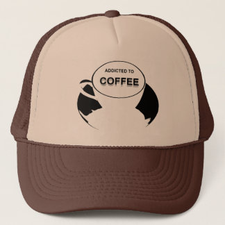 Addicted to Coffee Black Trucker Hat