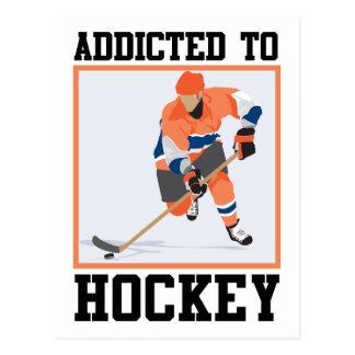 Addicted To Hockey Postcard