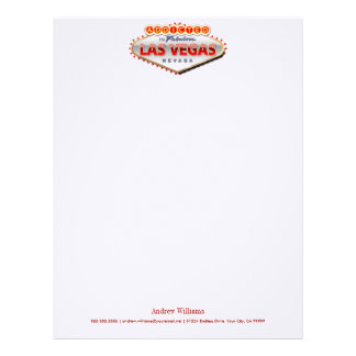 Addicted to Las Vegas, Nevada Funny Sign Letterhead