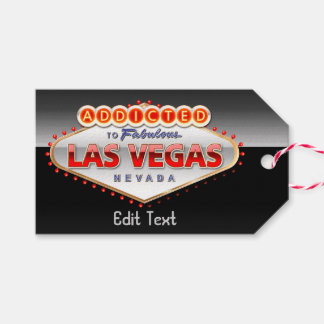 Addicted to Las Vegas, Nevada Funny Sign Pack Of Gift Tags