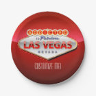 Addicted to Las Vegas, Nevada Funny Sign Paper Plate
