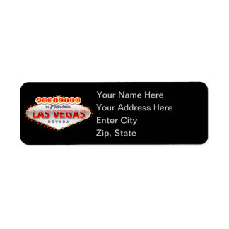 Addicted to Las Vegas, Nevada Funny Sign Return Address Label