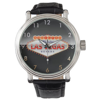 Addicted to Las Vegas, Nevada Funny Sign Wrist Watches