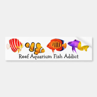 Addicted to Reef Aquarium Fish Bumper Sticker