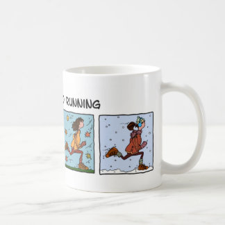 addicted to running (woman) coffee mug