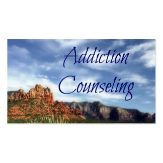 Addiction Counseling Scenic Desert Background Pack Of Standard Business Cards