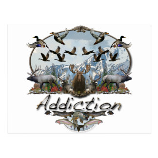 addiction postcard