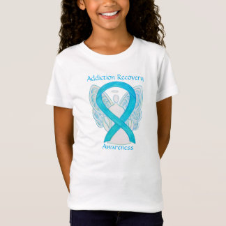 Addiction Recovery Awareness Ribbon Angel Shirt