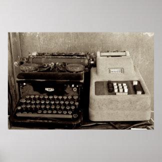 Adding Maching and Typwriter Poster