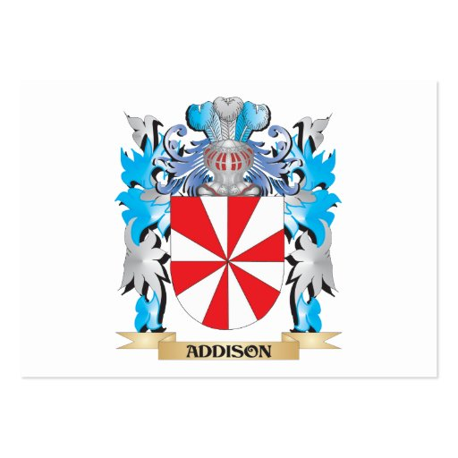 Addison Coat Of Arms Business Card