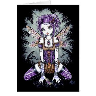 """""""Addison"""" Misty Dragonfly Fairy Art Card"""
