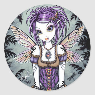 """Addison"" Misty Dragonfly Fairy Stickers"