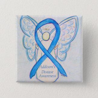 Addison's Disease Awareness Angel Ribbon Art Pin