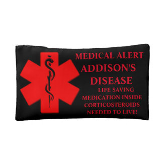 Addisons disease medication bag