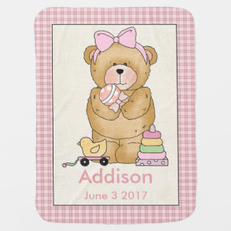Addison's Personalized Baby Bear Blanket Baby Blanket