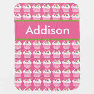 Addison's Personalized Cupcake Blanket