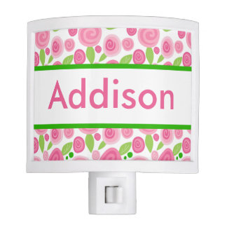 Addison's Personalized Rose Nightlight Nite Lite