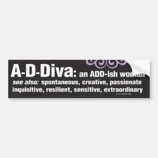 ADDiva Bumper Sticker - black
