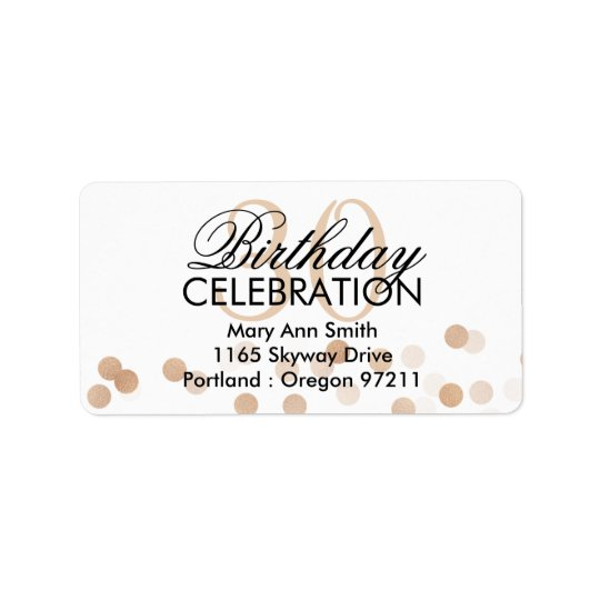 Address 30th Birthday Copper Foil Glitter Lights