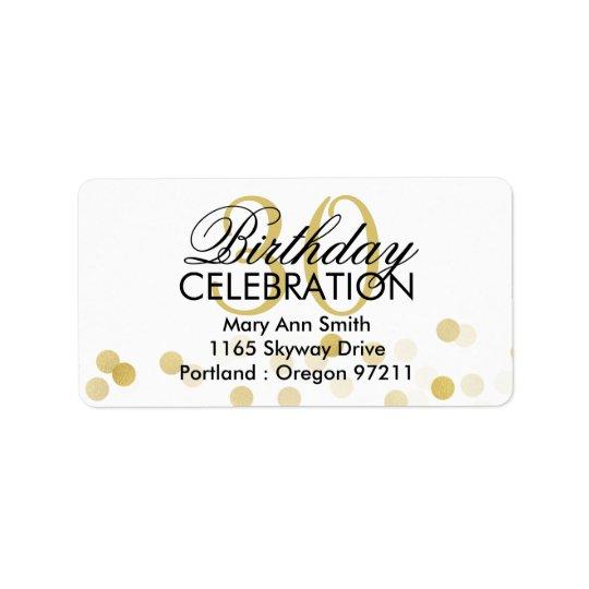 Address 30th Birthday Gold Foil Glitter Lights