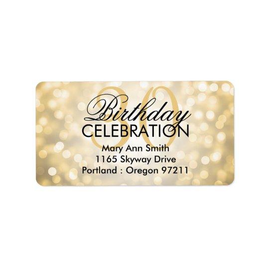 Address 30th Birthday Party Gold Glitter Lights