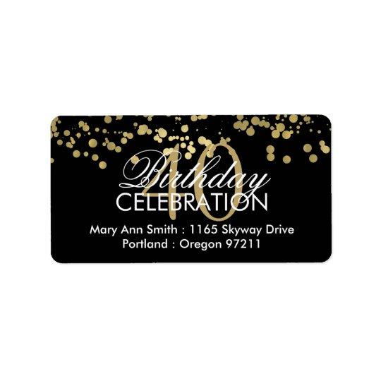Address 40th Birthday Gold Foil Confetti