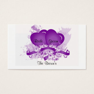 Address Card Template for Newlyweds