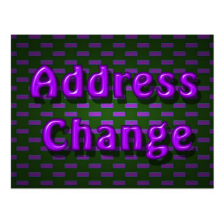 Address Change Postcard