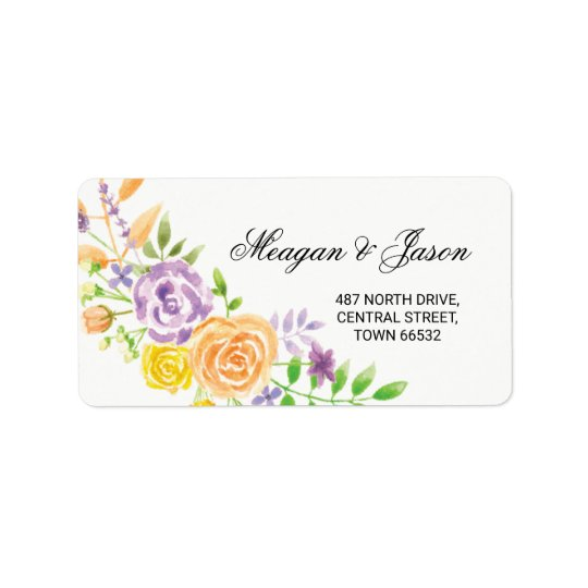 Address Floral Labels Party Stickers Wedding