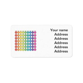 Address Label - Cute Rainbow Owl Pattern